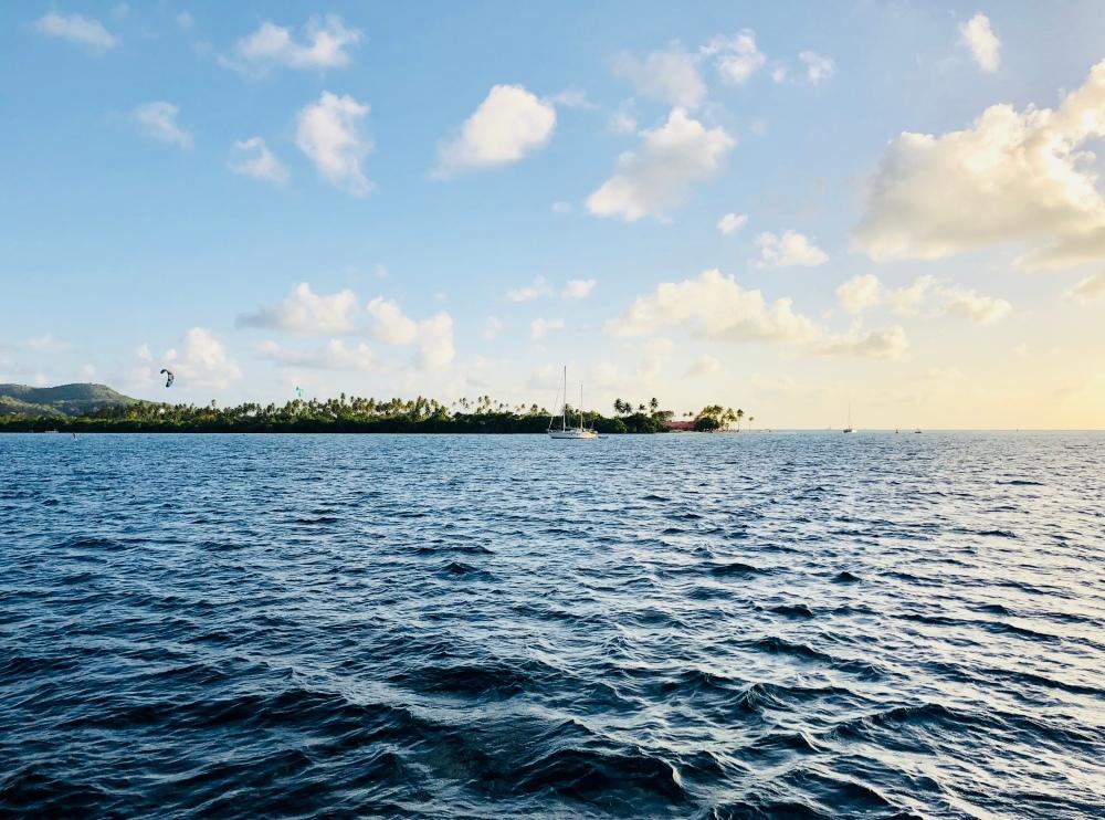 Sailing North Martinica Three Floating Kids